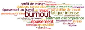 Burnout - fatigue intense - stress - surcharge de travail - épuisement - déprime - douleurs - conflits - désintérêt -